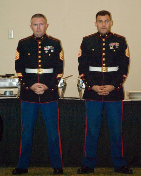 COLOR GUARD MARINES