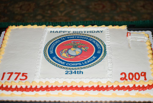 MARINE CORPS LEAGUE BIRTHDAY CAKE